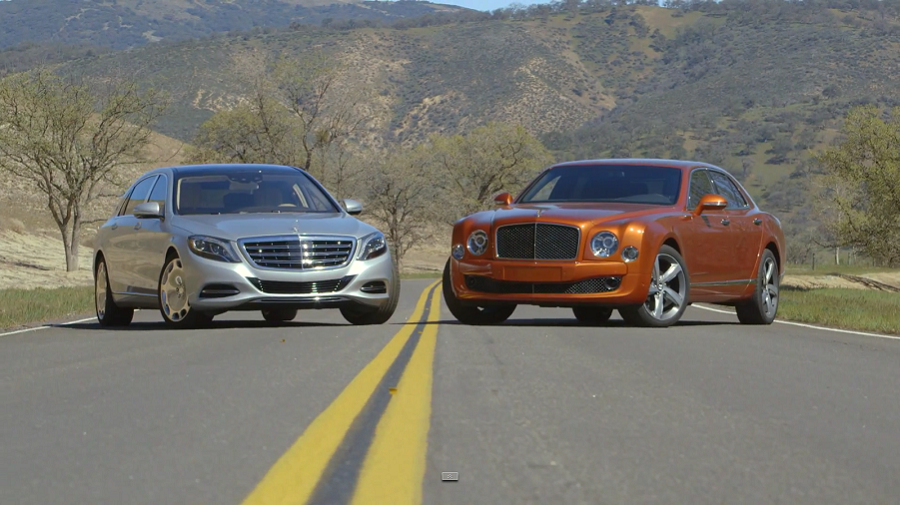 VIDEO: Head 2 Head - Bentley Mulsanne Speed vs Mercedes Maybach