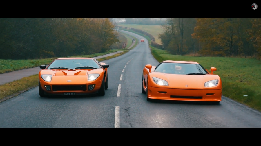 VIDEO: Analogue Supercars - Koenigsegg CCR vs Ford GT 720 Mirage