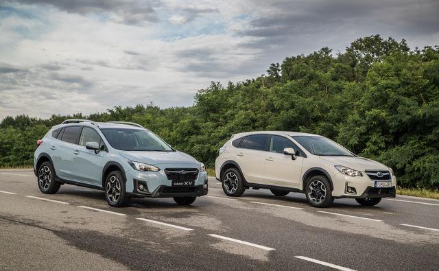 Uus Subaru XV ja eelmise põlvkonna XV. Foto: Subaru Europe